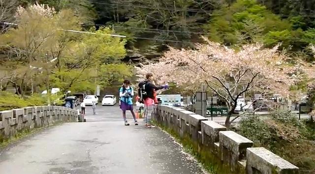 京都愛宕山登山 登山口付近