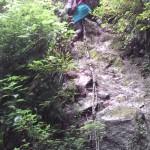 丸滝谷 滝を登る