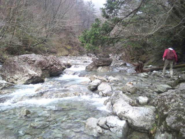 大台ケ原 シオから谷吊り橋下