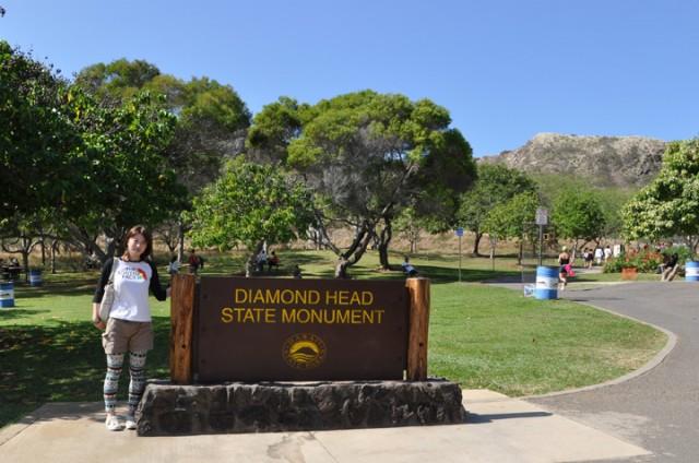 ダイヤモンドヘッド登山口 看板