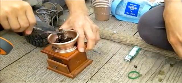 山頂 轢き立てコーヒー