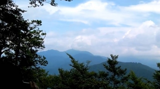 荒島岳 勝原コース 白山ベンチからの眺め