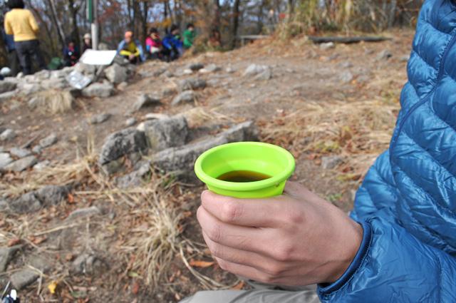 俱留尊山 山頂 食後のコーヒー