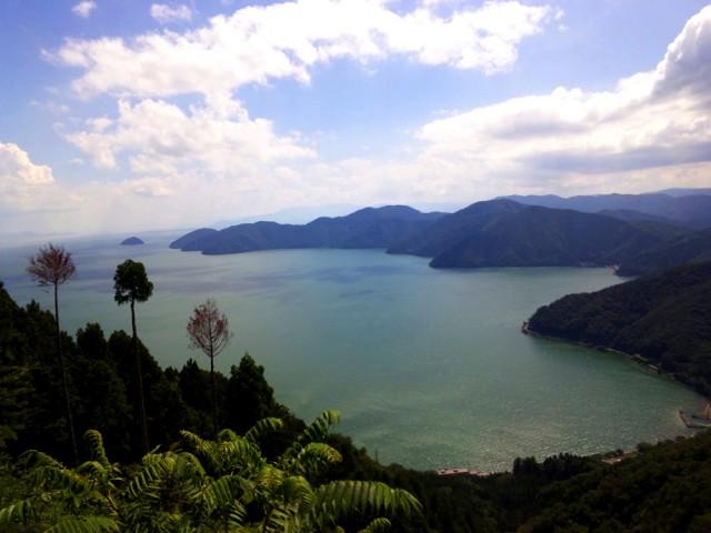 賤ヶ岳 山頂から琵琶湖方面