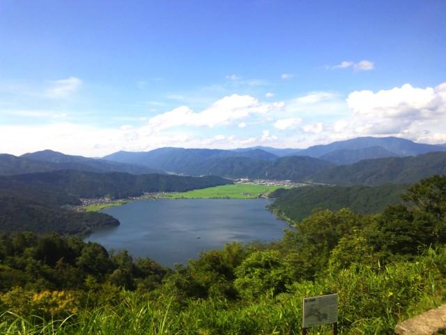 賤ヶ岳 山頂から余呉湖方面