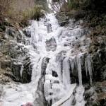 金剛山 雪道登山 ツツジオ谷 二の滝