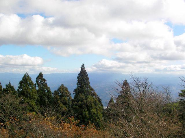 金剛山 山頂展望台からの眺望 八経ヶ岳~大峰山