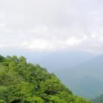 百名山 荒島岳 勝原コース登山道中 眺望
