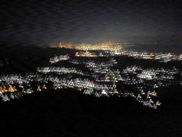 伊吹山ナイトハイク 夜景