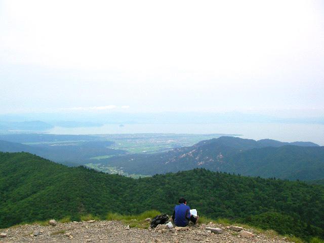 武奈ヶ岳山頂 琵琶湖方面
