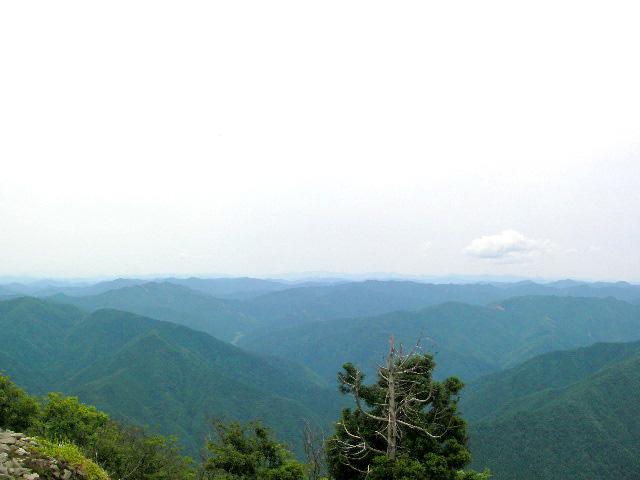 武奈ヶ岳山頂 京都から西方面